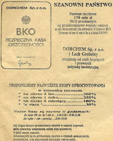 BKO - Bezpieczna Kasa Oszczędności - polska piramida finansowa