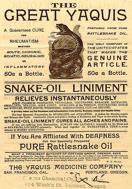 Snake Oil - leczy wszystkie choroby?