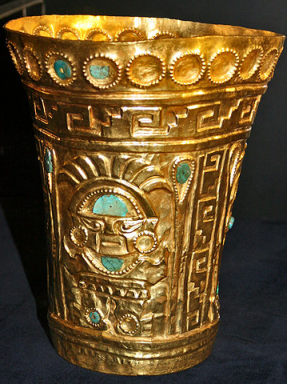 Złoty kubek z Imperium Inków